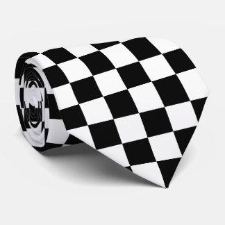 Black Checkered Tie