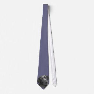 Black/Chocolate Labrador Retriever Tie