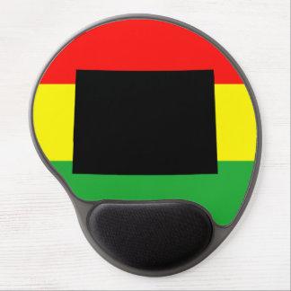 Black Colorado on Rasta Colors Gel Mouse Pad