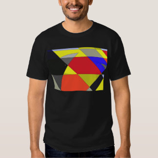 Black crows abstract art t shirt