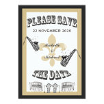 Black Gold New Orleans Jazz Save the Date 13 Cm X 18 Cm Invitation Card