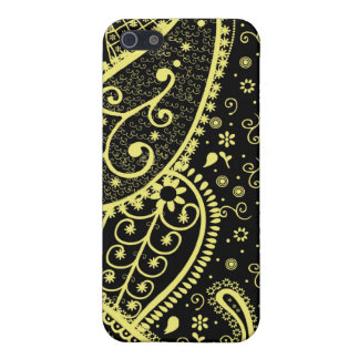 Black & Gold Paisley Speck iphone Case iPhone 5 Cover