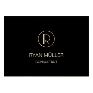 Black Golden Professional Plain and Monogram Pack Of Chubby Business Cards