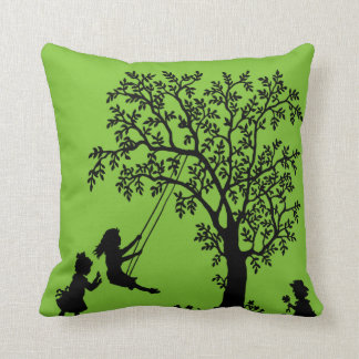 Black green Abstract Tree kids playing pillow Cushions