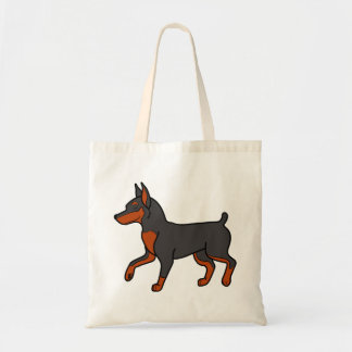 Black Miniature Pinscher Budget Tote Bag