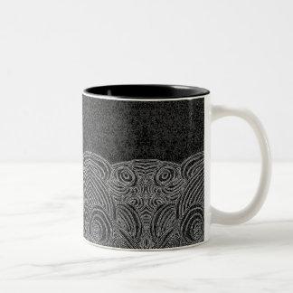 Black mug and White Abstract