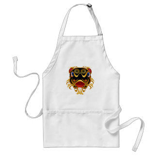 Black n Gold Chinese Dragon Face  Aprons