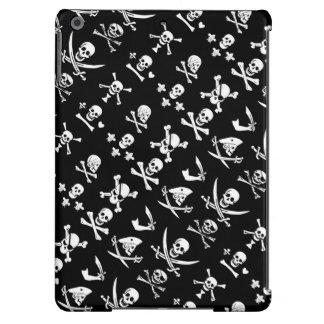 BLACK PIRATE BANNERS SKULL,CROSSED BONES,SWORDS iPad AIR COVER