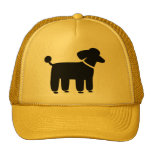Black Poodle Dog Graphic Cap