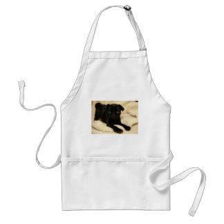 Black Pug Puppy Standard Apron