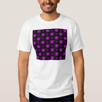 Black & Purple Spheres 3D Textured Design T-shirts
