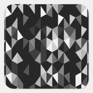 black pyramid pattern 07 square sticker