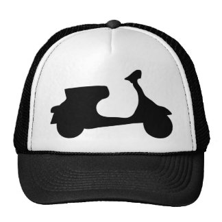 black racing scooter cap