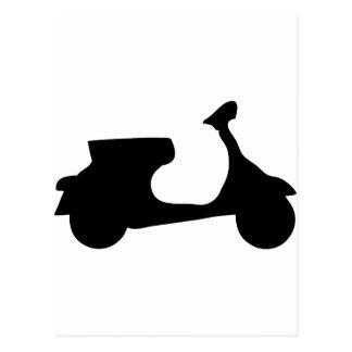 black racing scooter postcard