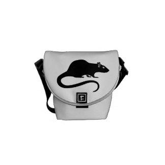 Black rat messenger bag