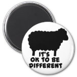 Black Sheep - It's Ok To Be Different 6 Cm Round Magnet