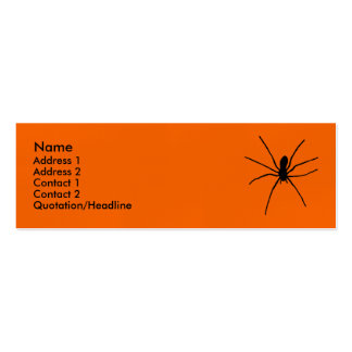 Black Spider Template Pack Of Skinny Business Cards