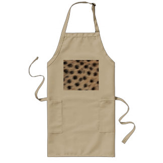 black spotted Cheetah fur or Skin Texture Template Long Apron