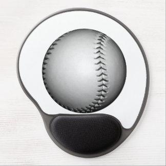 Black Stitching Baseball / Softball Gel Mouse Pad