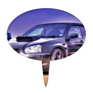 Black Subaru Impreza WRX STi Cake Pick