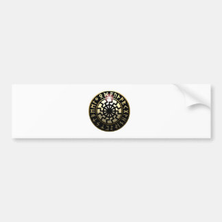 Black Sun wheel Bumper Sticker