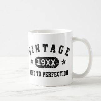 Black Text Vintage Aged to Perfection Mug