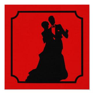 Black Tie Valentine Dance Party Invitation