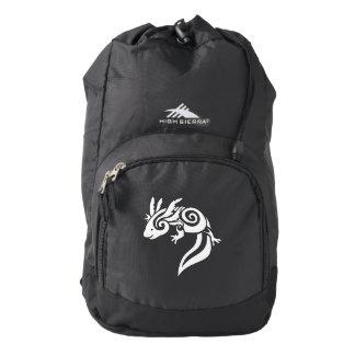 Black Tribal Axolotl Mexican Salamander Backpack