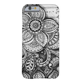 Black Velvet White Damask Dreamcatcher Mandala Art Barely There iPhone 6 Case