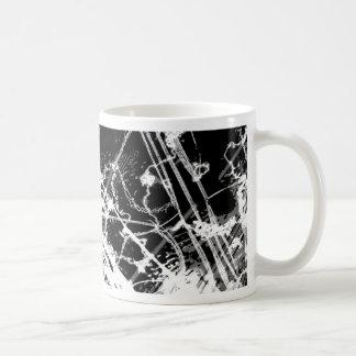 Black & White Abstract Basic White Mug