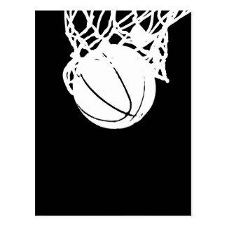 Black & White Basketball Silhouette Postcard