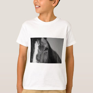 Black White Horse Eye Artwork T-shirts