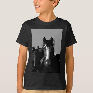 Black & White Horse Portrait Tshirt