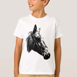Black & White Pop Art Horse Tee Shirts