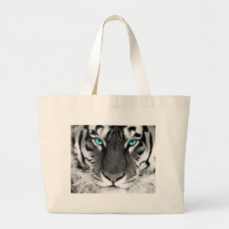 Black White Tiger Jumbo Tote Bag