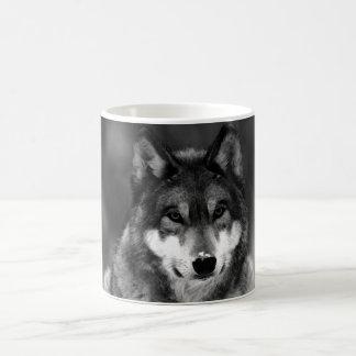 Black & White Wolf Basic White Mug