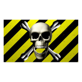 Black & Yellow CAUTION Pack Of Standard Business Cards