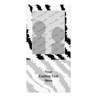 Black Zebra Print Pattern. Photo Card