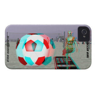 BlackBerry Bold Beach 3D Soccer Girl Case
