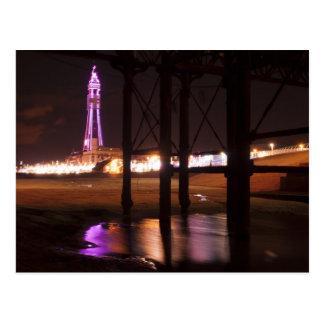 blackpool tower lights postcard