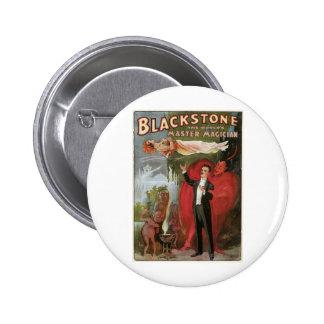 Blackstone ~ Master Magician Vintage Magic Act 6 Cm Round Badge