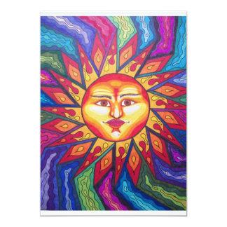 Bladed Sun 13 Cm X 18 Cm Invitation Card