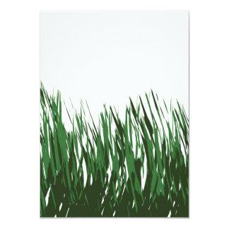 Blades of Grass Illustration 11 Cm X 16 Cm Invitation Card