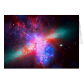 Blank notelet - Cigar Galaxy, Messier 8 Note Card