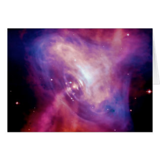 Blank notelet - Crab Pulsar Time Lapse Note Card
