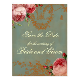 Blenheim Rose Save the Date Postcard