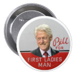 Blii Clinton for First Ladies Man 7.5 Cm Round Badge