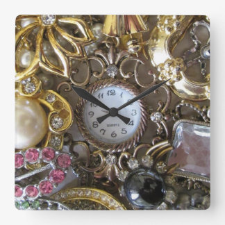 bling bling jewelry collection clock