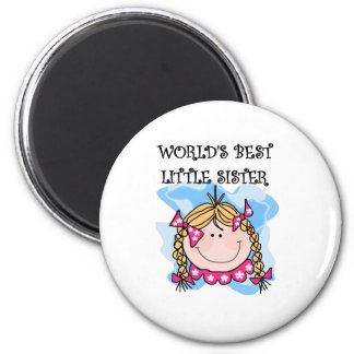 Blond Best Little Sister 6 Cm Round Magnet