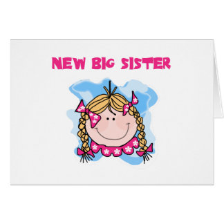 Blond Girl New Big Sister Greeting Card